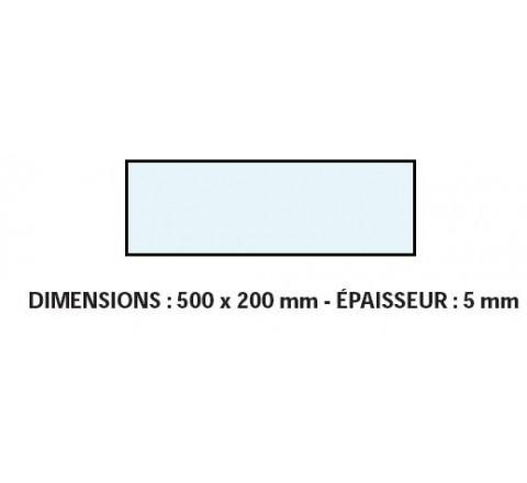 VITRE ADAPTABLE SUR FOUR FRINGAND 500 X 200 mm Ep: 5 mm