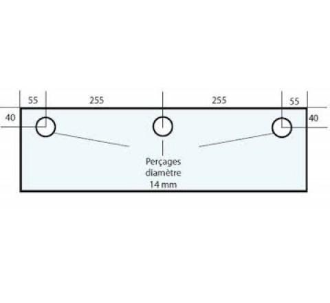 VITRE ADAPTABLE SUR FOUR FRINGAND 620 X 250 mm Ep: 10 mm
