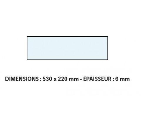 VITRE ADAPTABLE SUR FOUR BONGARD 530 X 220 mm Ep:6 mm