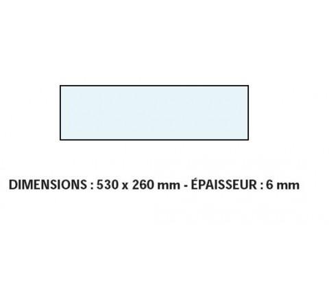 VITRE ADAPTABLE SUR FOUR BONGARD 530 X 260 mm EP:6 mm