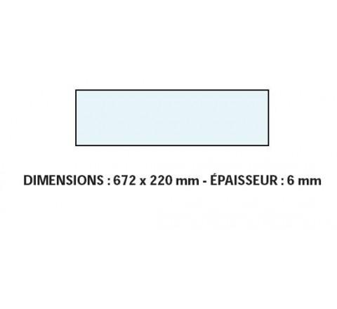 VITRE ADAPTABLE SUR FOUR BONGARD 672 X220 mm Ep:6 mm