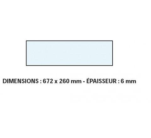 VITRE ADAPTABLE SUR FOUR BONGARD 672 X 260 mm Ep;6 mm